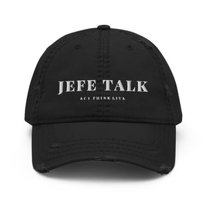 JefeTalk Distressed Dad Hat