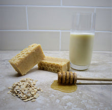 Load image into Gallery viewer, Just Moo Honey and Oats Cows Milk Soap