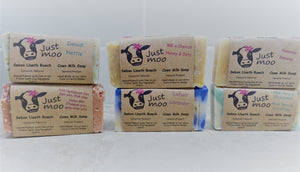 Just Moo Pink Himalayan Sea Salt and Pink Clay Cows Milk Soap