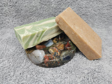 Load image into Gallery viewer, Just Moo Bathroom Gift Set with Round Tumble Gem Soap Dish