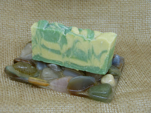 Rectangle Tumblestone Soap Dish
