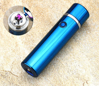Electric Double Pulse USB Lighter Pipe, Smokeless Windproof Cigarette Cigar Lighters