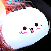 Soft Silicone Nursery Pat Lamp/Toy with Colorful Light Changing Ability. Cutie Cat Versions