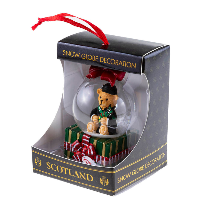 Hanging 45Mm Snow Globe Bear Piper