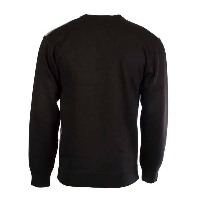 Men's V-Neck Geometric Jumper