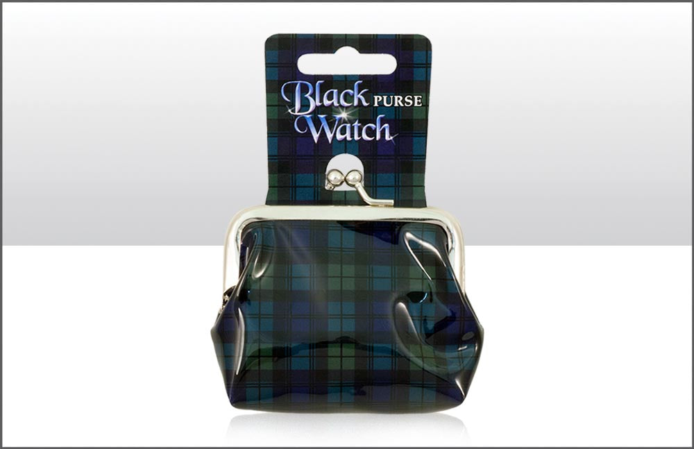 Black Watch Tartan Pvc Purse