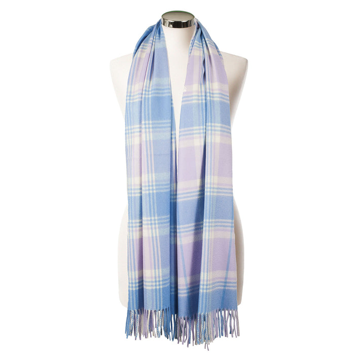 "Dunedin Cashmere Women""S Scottish Big Check Luxury Stole"