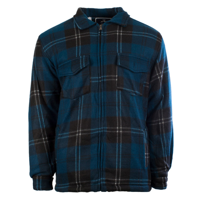 Men's Casual Tartan Sherpa Jacket