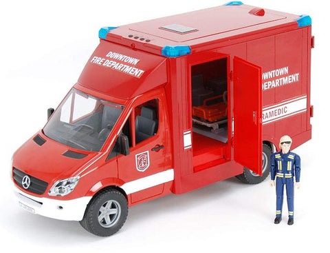 Bruder MB Sprinter Paramedic Vehicle with Driver
