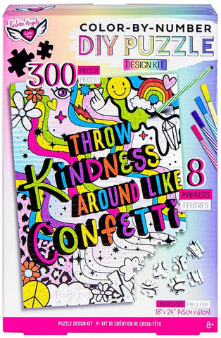 Fashion Angels Puzzle Throw Kindness Like DIY Colour By Number