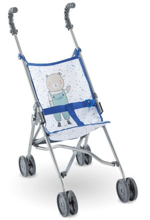 Corolle Doll Accessory - Mon Grand Umbrella Stroller, Blue