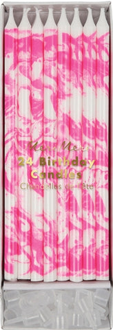 Meri Meri Candles - Pink Marbled