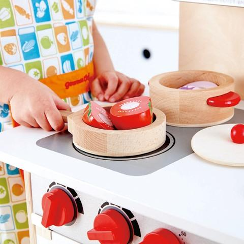 Hape Pretend Cook & Serve Set