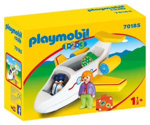 Playmobil 1.2.3 Airplane with Passenger