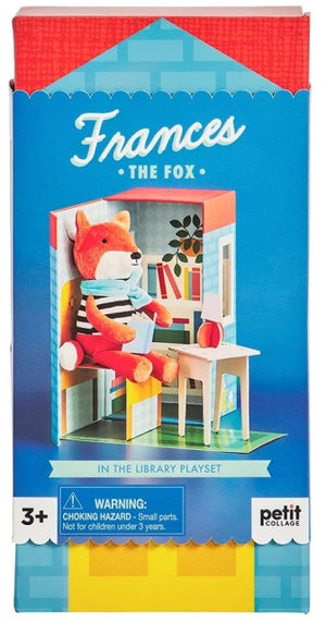 Petit Collage In the Library Playset Frances the Fox