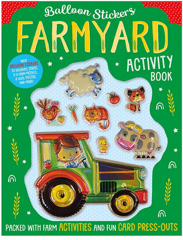Balloon Stickers Farmyard Activity Book