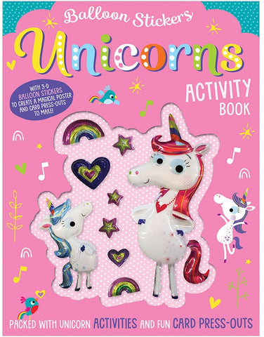 Balloon Stickers Unicorns Activity Book