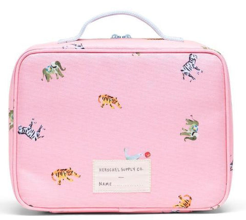 Herschel Pop Quiz Lunchbox Candy Pink Circus Animals