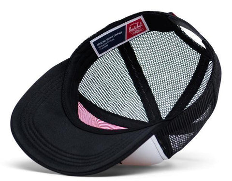 Herschel Whaler Mesh Youth Hat White/Black