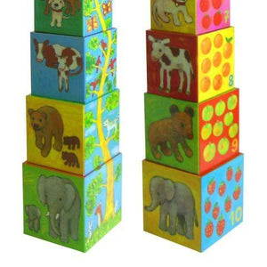 Djeco Toddler - Stacking Cubes My Friends