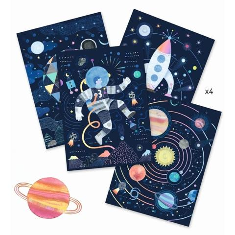 Djeco Art Kit - Scratch Art Cosmic Mission