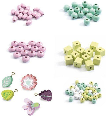 Djeco Art Kit - Beads Leaves and Flowers