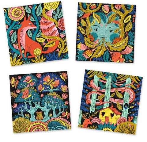 Djeco Art Kit - Colouring 3D Fantasy Forest