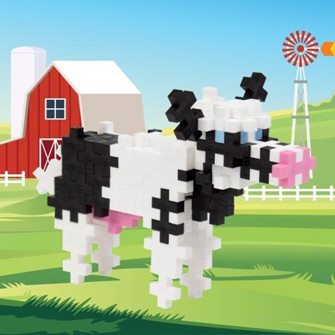 Plus-Plus Tube Cow