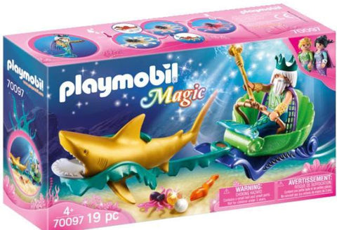 Playmobil Magic Mermaids King of the Sea with Shark Carriage