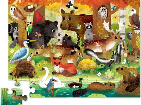Crocodile Creek Floor Puzzle Forest Friends, 36 Piece