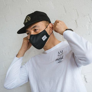 Herschel Classic Fitted Face Mask Black
