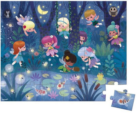 Janod Puzzle - Fairies & Waterlilies, 36 Piece