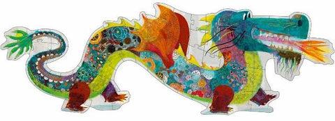 Djeco Giant Puzzle - Leon the Dragon, 58 Piece