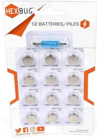 Hexbug Batteries, 12 Pack
