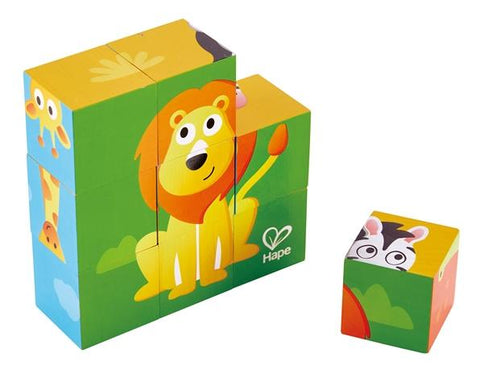 Hape Block Puzzle Jungle Animals