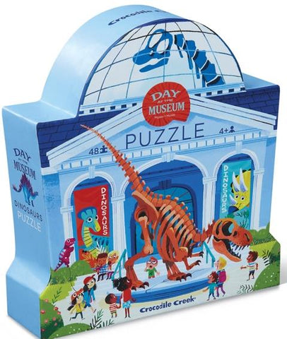 Crocodile Creek Day at the Museum Puzzle, Dinosaurs, 48 Piece