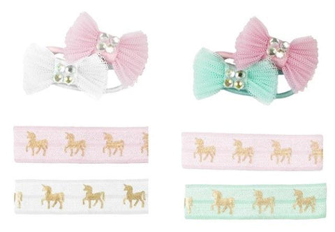 Great Pretenders Fashion - Pink Unicorn Hair Ties & Bows