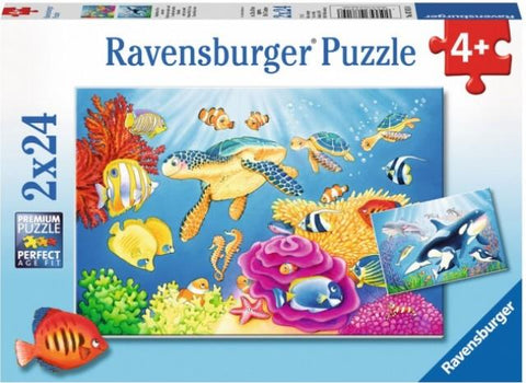 Ravensburger Puzzle 2 x 24 Piece, Vibrance Under the Sun