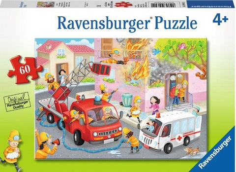 Ravensburger Puzzle 60 Piece, Firefighter Rescue