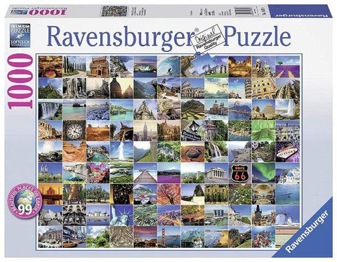 Ravensburger Puzzle 1000 Piece, 99 Beautiful Places on Earth