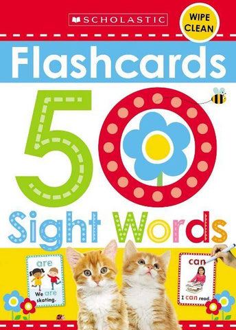 Scholastic Flashcards 50 Sight Words
