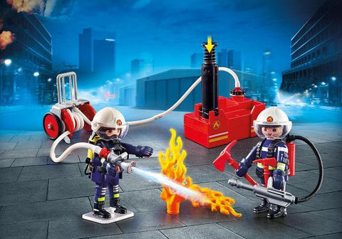 Playmobil City Action Firefighters with Water Pump