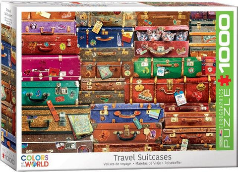 Eurographic Puzzle Travel Suitcases, 1000 Piece