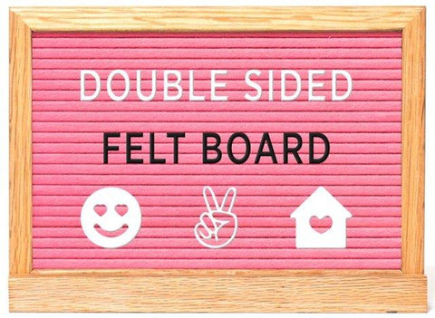 Amped & Co. Felt Board Double Sided Pink