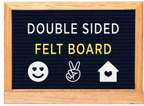 Felt Board Double Sided Black