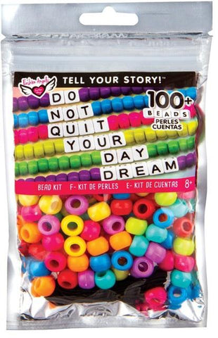 Fashion Angels Tell Your Story Alphabet Bead Bag Rainbow Pony Beads