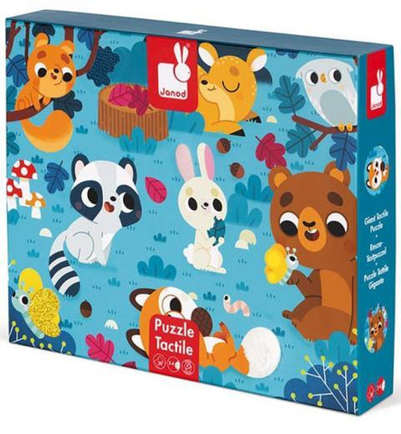 Janod Tactile Puzzle - Forest Animals