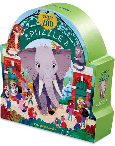 Crocodile Creek Day at the Museum Puzzle Zoo, 48 Piece