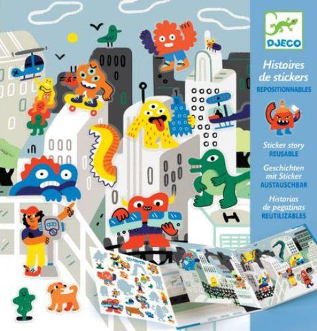 Djeco Art Kit - Sticker Story Monsters