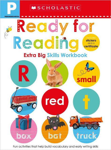 Scholastic Extra Big Skills Workbook Pre-K Ready For Reading